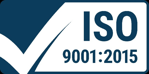 ISO 9001:2015 certified manufactuer and process