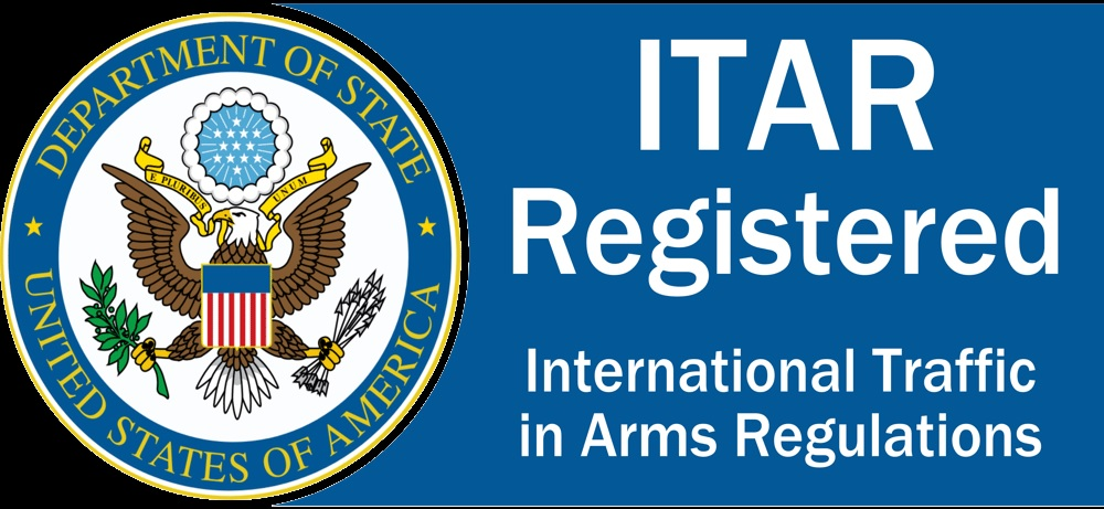 ITAR Registered from the Department of State of USA - International Traffic in Arms Regulation certified